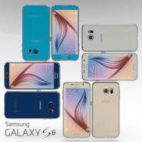 Samsung Galaxy S6 All Color Pack 3D Model