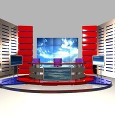 News Studio 004 3D Model