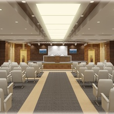 Conference Hall 018 3D Model