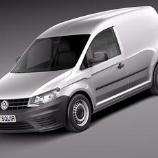 Volkswagen Caddy Cargo VAN 2016 3D Model