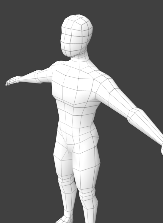Low Poly Base Mesh Of A Male Body For Sculpting 3D Model