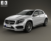 Mercedes-Benz GLA-class 45 AMG 2014 3D Model