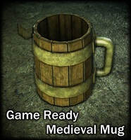 Medieval mug 3D Model
