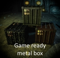 Metall box 3D Model