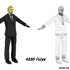 Man in suit 3D Model