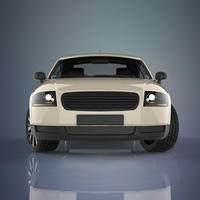 Old Sport car 3D Model