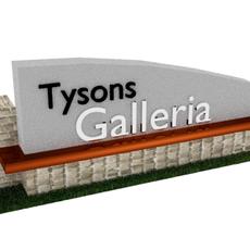 Galleria Sign 3D Model