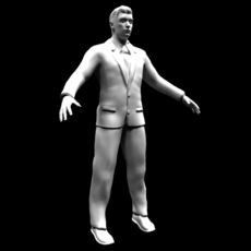 Low-poly Man 3D Model