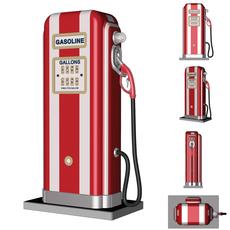 Old pump for gasoline 3D Model