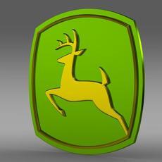 John Deer logo 3D Model