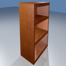 Wooden Shelf 3D Model