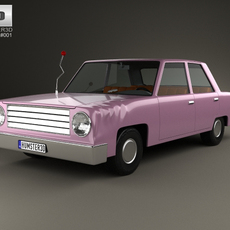 The Simpsons Homer Car 1989 3D Model