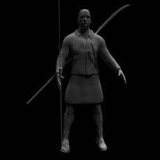 Celtic Warrior 3D Model