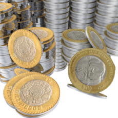 Gold Coin Set 3D Model