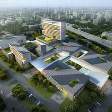 Hospital building 002 3D Model
