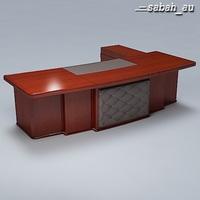 Executive Desk 01 3D Model