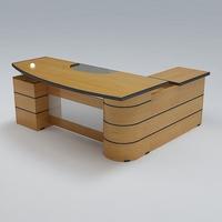 Executive Desk 02 3D Model