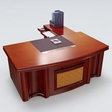 Executive Desk 03 3D Model