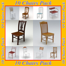 Chairs Pack 1 3D Model
