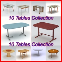 Tables Pack 1 3D Model