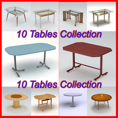 Tables Pack 1 3D Model