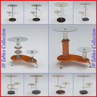 Tables Pack 2 3D Model