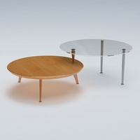 Round End Cocktail Table 3D Model