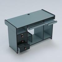 Computer Table 01 3D Model
