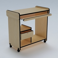 Computer Table 02 3D Model