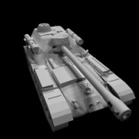 SU-101 Tank 3D Model