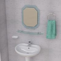 Bathroom Pedestal Sink and Props 3D Model