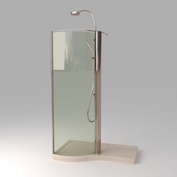 Devon Shower Stall Photoreal 3D Model