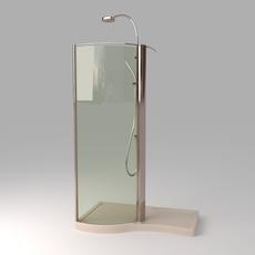 Devon Shower Stall Photoreal 3D Model