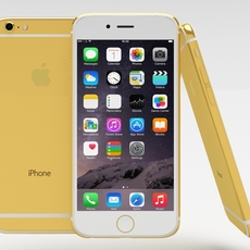 iPhone 6 Gold Plated 3D Model