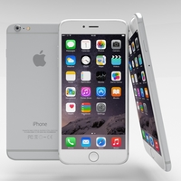 iPhone 6 Plus Silver 3D Model