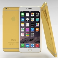 iPhone 6 Plus Gold Plated 3D Model