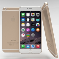 iPhone 6 Plus Gold 3D Model