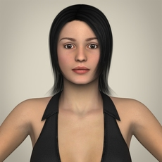 Realistic Young Working Woman 3D Model
