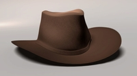 Free Western Hat 3D Model