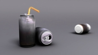 Free Empty Soda Can 3D Model