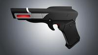 Free Retro Gun 3D Model