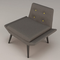 Morgan miami lounge chair 3D Model