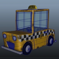 Taxi Cab Cartoon 3D Model