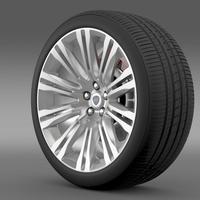 Lancia Thema 2014 wheel 3D Model