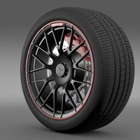 Mercedes AMG C 63 S Edition wheel 3D Model