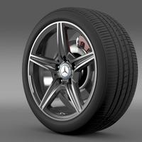 Mercedes Benz C 400 4Matic AMG line wheel 3D Model