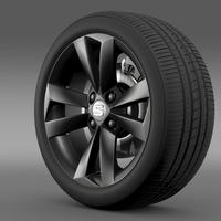 Seat Mii Vibora Negra wheel 3D Model
