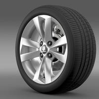 Skoda Citigo wheel 3D Model