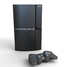 Playstation 3 low poly 3D Model
