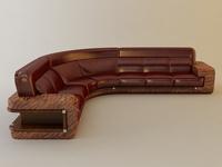 Florence Fire Corner Sofa 3D Model
